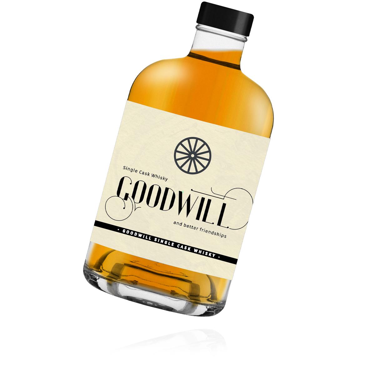 Flasche Goodwill Single Cask Whisky - Goodwill Spirits